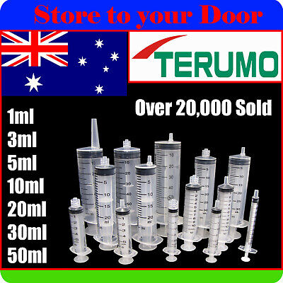 Syringes 1ml 3ml 5ml 10ml 20ml 30ml 50ml TERUMO - Suit Luer Slip / Lock Needles