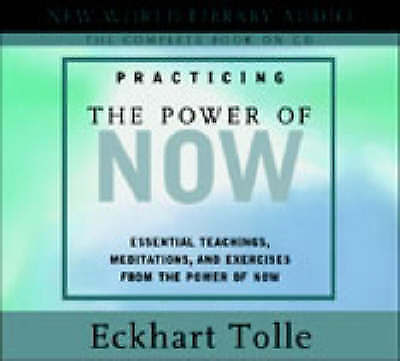 Practicing the Power of Now by Eckhart Tolle Audio Book ,CD-Audio NEW AUS Stock