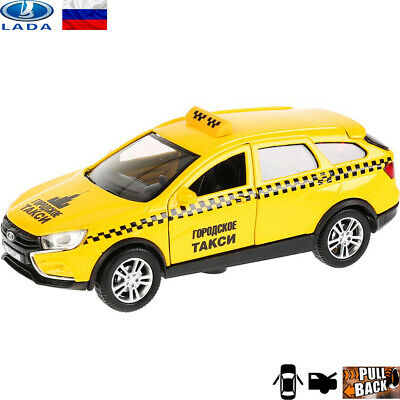 Diecast Vehicles Scale 1:36 Skoda Rapid Russian Taxi Model Car