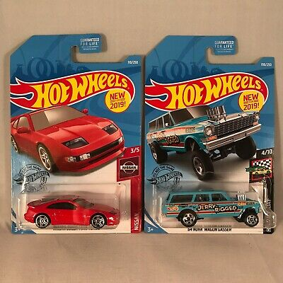 2019 Hot Wheels (Red) NISSAN 300ZX '64 Nova Wagon Gasser JERRY RIGGED Case K Lot
