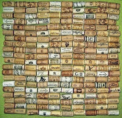 200 Natural Wine Corks, Used. No Synthetic, No Champagne.