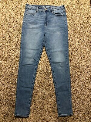 d29a3e2630cd7 Ae American Eagle Super Hi Rise Jegging Next Level Stretch Womens Jeans 14  Xl