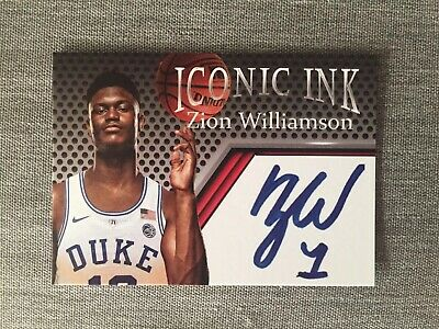 "Zion Williamson ""Iconic Ink"" Rookie Facsimile Auto Edition Rc Hot!"