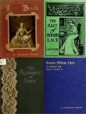 112 Old Books On Lace Making Collecting Vintage Antique Pattern Art Style On Dvd