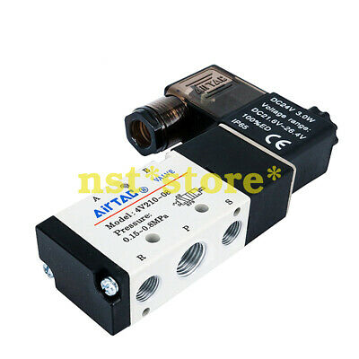 Applicable for Airtac 4V210-08 two five-way pneumatic solenoid control valve 24v