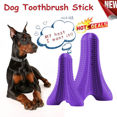 Dog Toothbrush Brushing Stick Teeth Cleaning Chew Toy For Dogs Pet Oralcare FG5