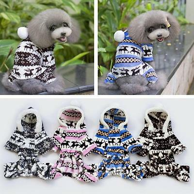 Puppy Pet Dog Cat Clothes Hoodie Warm Sweater Coat Costume Apparel SO