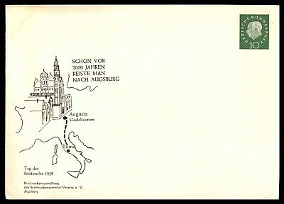 Mayfairstamps Germany 1959 10 Pf Green Mint Stamp Day Large Envelope Postal Stat