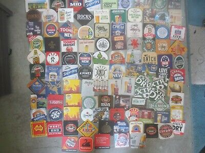 104 different  Australian Breweries  Issued, BEER COASTERS  collectable