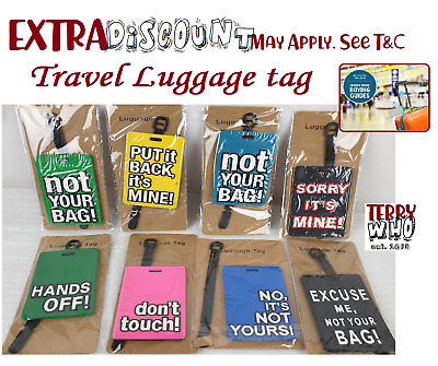 Travel  Luggage Tag Colourful PVC  Name Bag Card Holder Suitcase Luggage Tags