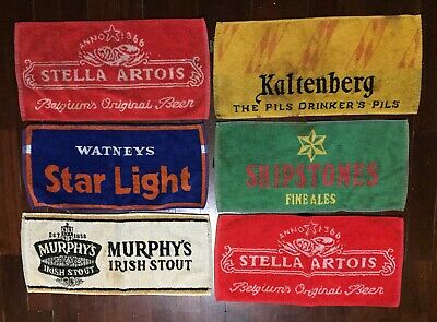 Bar Mat Collection From Europe Rare Mats Lot Of 6 Pub Towels