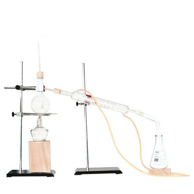 Lab Essential Oil Extraction Distillation Apparatus Purifier Glassware Kits