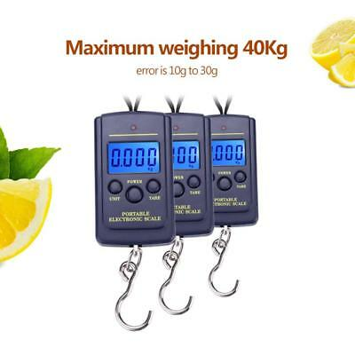 40KG LCD Digital Travel Portable Hanging Weight w/ Hook Luggage Electronic Scale