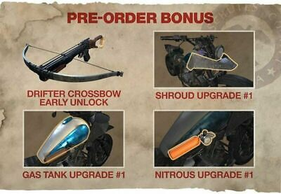 Days Gone Pre-Order DLC Bike Upgrade Package / Drifter Crossbow Early Access PS4