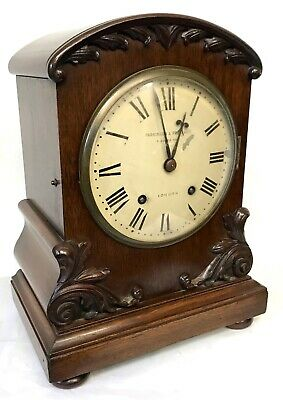 Antique W&H Winterhalder Hofmeier Bracket Mantel Clock Parkinson Frodsham London