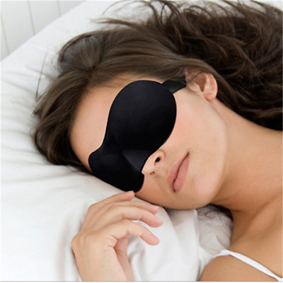 Travel 3D Sleep Eye Mask Soft Padded Shade Cover  Relax Sleeping Blindfold S
