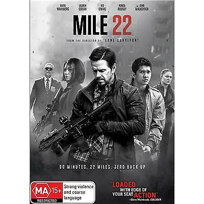 Mile 22 Dvd, New & Sealed, 2018 Release, Free Post