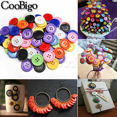 7.5mm~25mm Flat Resin 4 Hole Buttons Round for DIY Crafts Sewing Coat Shirts