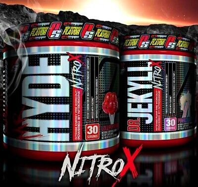 ProSupps Hyde NitroX Black 30 Servings|Pre Workout|Creatine|L-Citrulline|GABA