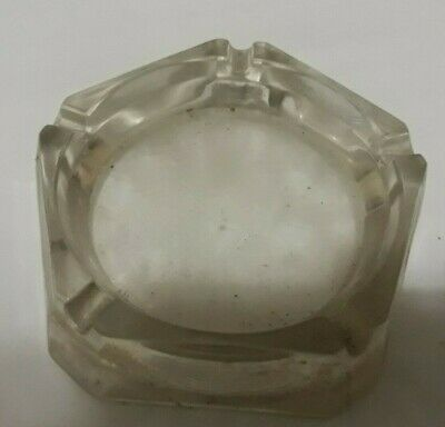 Glass Pentagon Shaped Ash Tray