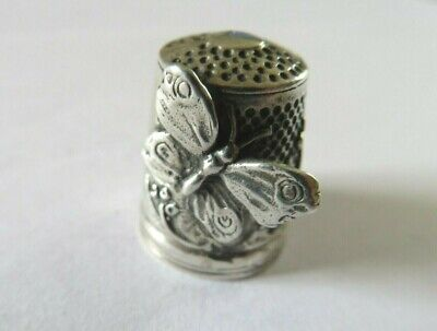 Vintage Solid Silver Thimble Kay Thetford Kendall Butterfly 1989