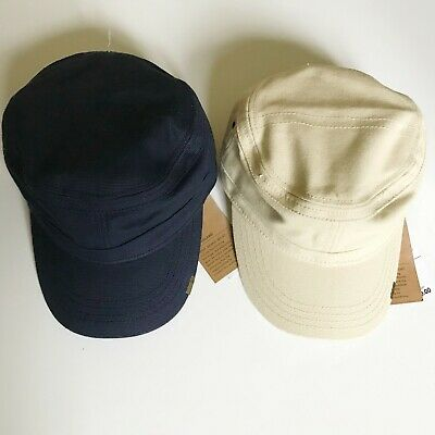 9529c699 NWT Timberland Men's Prince Cove Waxed Canvas Field Cap Hat A1EA Navy Sand