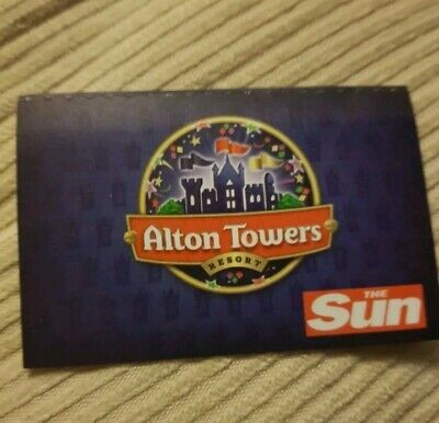 Alton Towers Tickets 23/6/19 - Sunday 23Rd June 2019 (Not E.tickets)