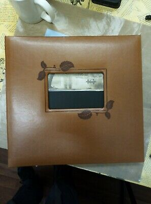 Pioneer 1-piece 12 x 12-inch Sewn Leatherette 3-ring Binder, Brown - Ring Album