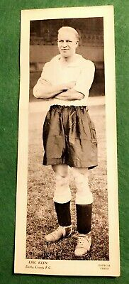 TOPICAL TIMES FOOTBALL STAR PANEL 1930s -  ERIC KEEN DERBY COUNTY  (MM92)