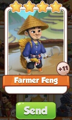 Coin Master Cards Farmer Feng Fast Delivery
