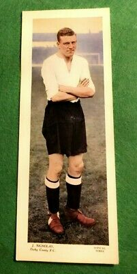 TOPICAL TIMES FOOTBALL STAR PANEL 1930s - J.NICHOLAS DERBY COUNTY F.C   (MM92)