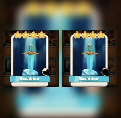 Coin Master Cards Pack Of 2 Excalibur Fast Delivery