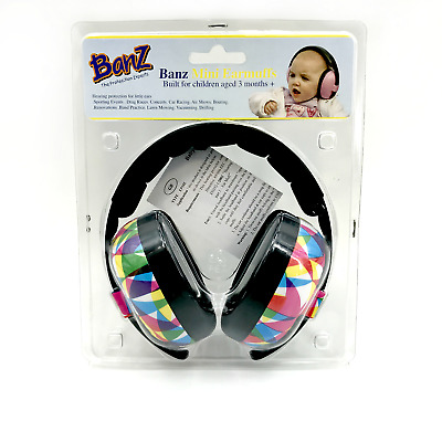 Banz Mini Earmuffs EM014 Infant Hearing Protection Geo Print - Age 3 months Plus