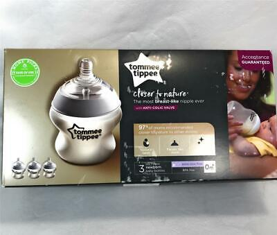 Tommee Tippee Closer to Nature Anti-Colic Baby Feeding Bottles, 3-Pack