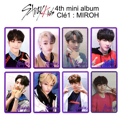 STRAY KIDS - 4th mini album : CLÉ 1 : MIROH Official Photocard - Purple Ver.