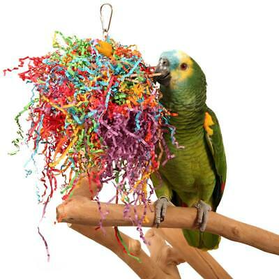 Crinkle and Crunch Chewable Foraging Parrot Toy African Greys Conures Macaws
