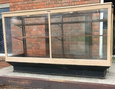 """Vintage Antique Wood and Glass Store Display Case 72""""x42""""x24"""" Great Old Paint!!!"""