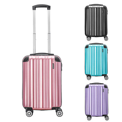 Large Cabin Hard Shell Suitcase Lightweight Travel Luggage 4 Wheel Spinner 20""