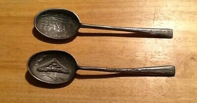 2 Vintage American Pewter Company Collectible Spoons