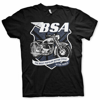 Official Licensed B.S.A. 650 SHIELD Men's Black T-shirt S-XXL Sizes