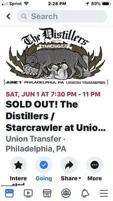 The Distillers Tickets At Union Transfer In Philadelphia, PA Sold Out 2 Tickets