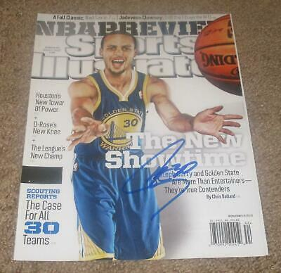 70cd2bb7f2d Stephen Curry Signed Autographed Sports Illustrated Magazine2(Proof)Golden  State