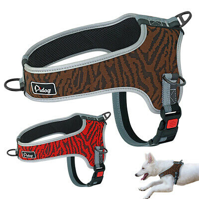 Reflective No Pull Dog Harness Lockable Breathable Mesh Padded Adjustable Large
