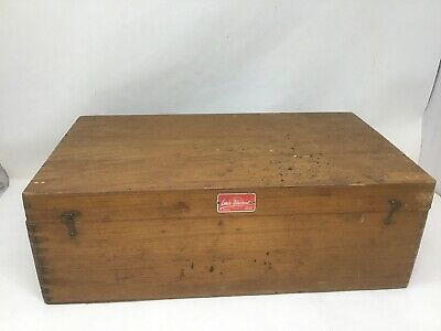 "Vintage Emco Unimat Lathe Wooden Box Crate 9 1/2 X 16 3/4"" Made In Austria"