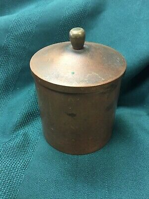 Roycroft Copper Humidor / Cigarette Jar W/ Lid