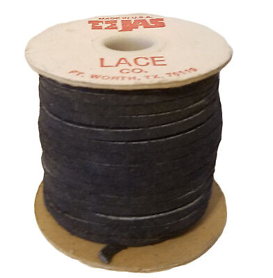 "Vintage TEJAS Genuine Suede Lace Cord 1/8"" (3 mm) x 25 yds Navy Blue (1 spool)"