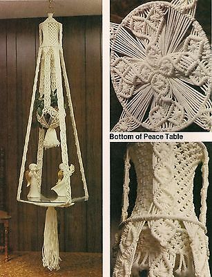 Hanging Table Planter Combo Pattern - Craft Book: # MP6 Macrame Portraits book 6