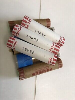 8 Rolls Of 1969-P Unsearched Uncirculated Lincoln Memorial Cents
