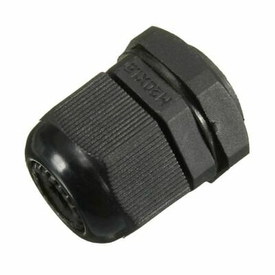 10 x M20 20mm Black Waterproof Compression Cable Stuffing Gland Lock F6D7