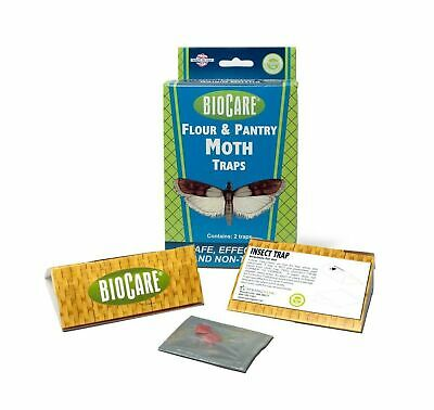 BioCare Flour and Pantry Moth Traps with Pheromone Lures, Nontoxic and Pestic...